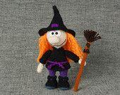 Bambola da collezione di bambola strega bambola OOAK arte Strega Halloween Halloween regalo fantasia arte bambola Halloween decorazioni bambola della strega figurina Halloween arte