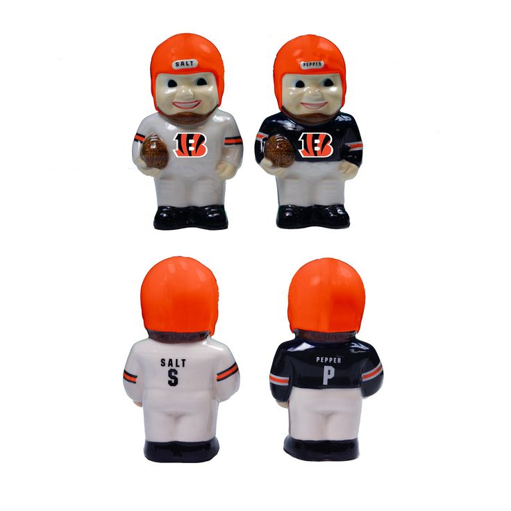 NFL Player Salt & Pepper Shaker Set - Cincinnati Bengals