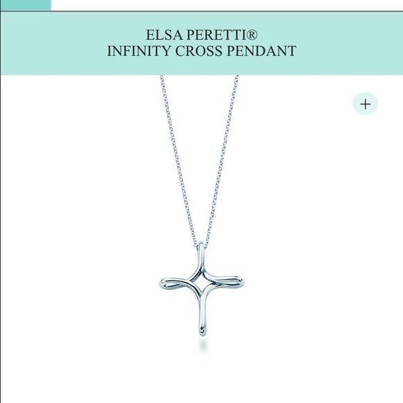 Tiffany & Co- Elsa Peretti infinity cross necklace Never worn, sterling silver Tiffany &Co infinity cross includes pouch. Tiffany & Co. Jewelry Necklaces