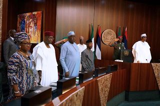 President Buhari presided over the Federal Executive Council meeting held at the council chambers in the state house Abuja today September 28th. You may also like:Photos:Nigeria's U-17 women's team as they arrive Jordan for world cup(sports news). See some more photos:  News update: President Buhari presided over the Federal Executive Council meeting (photos).