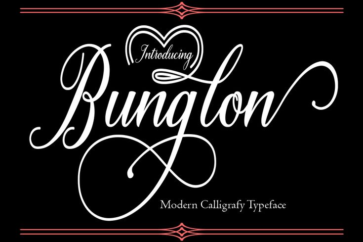 Bunglon Font  Bunglon is a beautiful and modern calligraphy script, perfect for adding some romance and elegance to your designs. This font has variable contrast and dances beautifully.