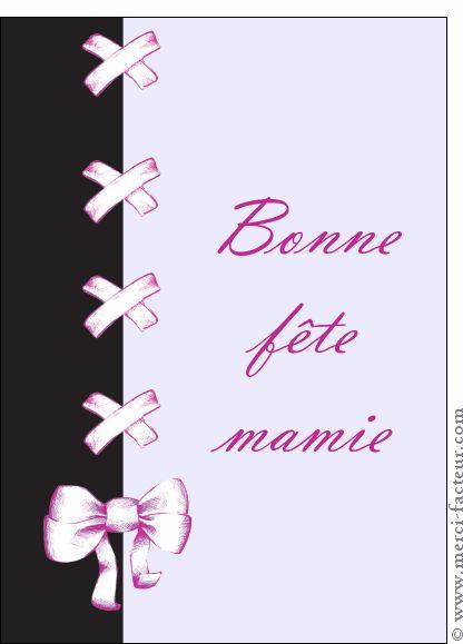 Mamie : des cartes pour enfants à envoyer pour la fête des grand-mères