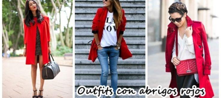 Outfits con abrigos rojos ¡Se ven hermosos!