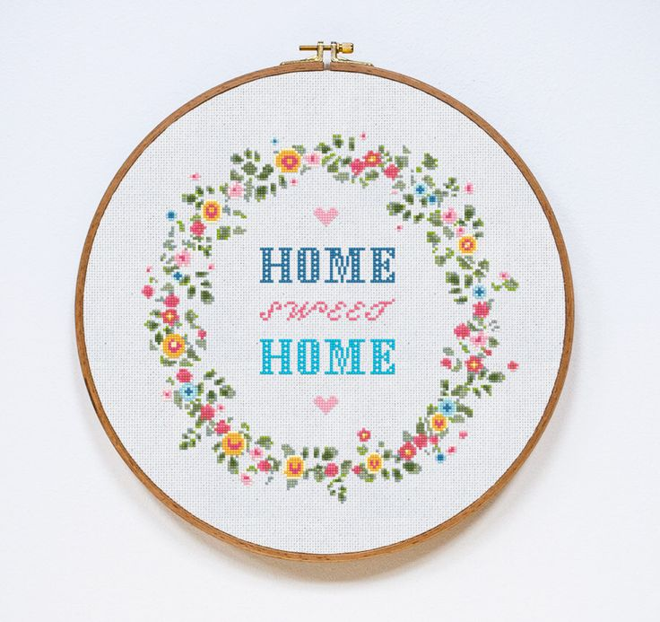 Home Sweet Home Cross Stitch Pattern, Home Modern Cross Stitch Pattern, Easy Counted Chart, PDF Format, Instant Download by Stitchering on Etsy https://www.etsy.com/listing/272302336/home-sweet-home-cross-stitch-pattern
