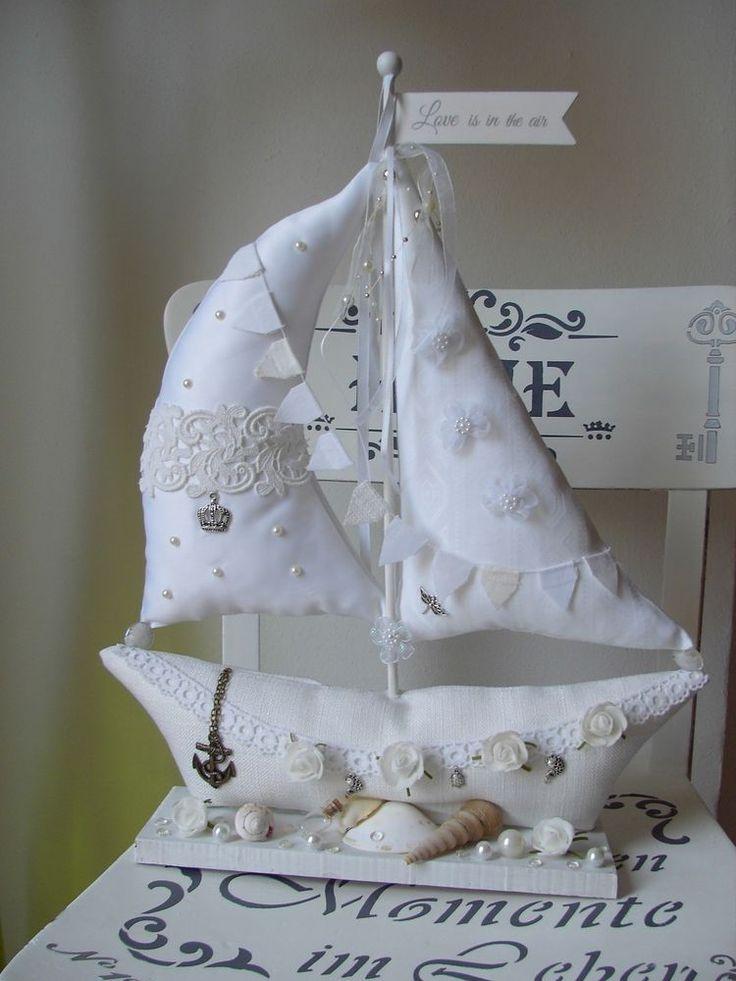 XXL Segelboot ganz in weiß passt zu Tilda Shabby Vintage