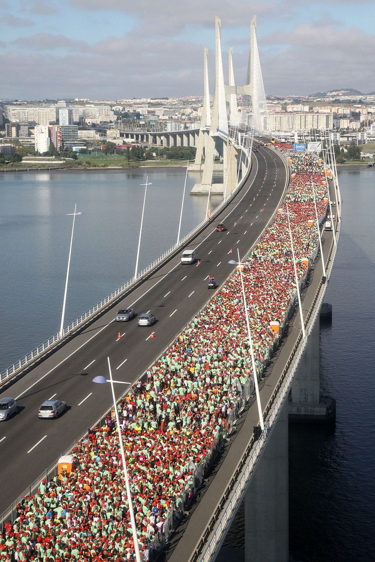 Meia-maratona de Lisboa em 2011, na Ponte Vasco da Gama