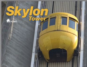 """If you only go one place on your Niagara Falls getaway the Skylon Tower Observation Deck is it. A trip to the top of this world-famous Niagara Falls attraction combines an exhilarating 52 second ride with the awe of seeing Niagara from 775 feet above the mighty Falls. From the moment you hop aboard one of our """"Yellow Bug"""" glass-enclosed exterior elevators and glide smoothly to the top, you'll agree the Skylon Tower is the highlight of your visit."""