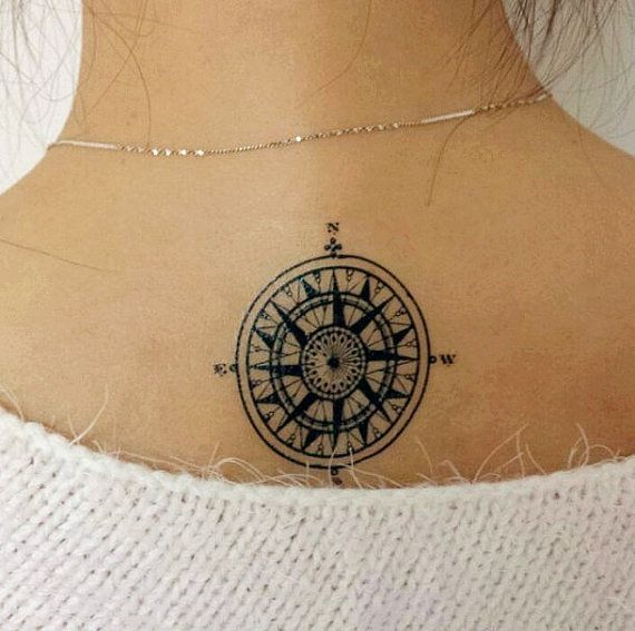2pcs  Compass temporary tattoo fake tattoo body by MaomaoCreation, $3.99