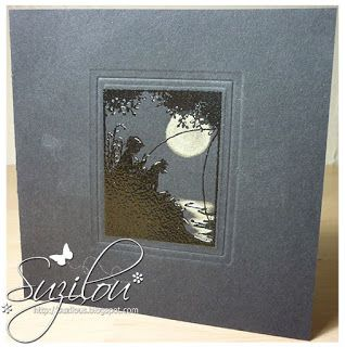 Suzilou's Blog Spot: Less is More - One Layer Coloured Card Base
