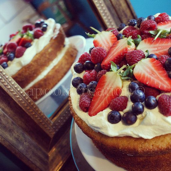 INSTANT DOWNLOAD Food Photography Vanilla Cake by apookicreation, €2.20