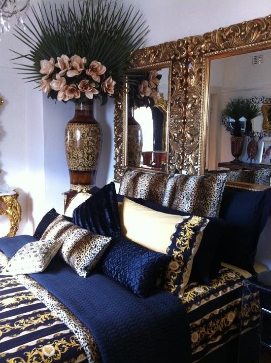 Navy Blue Gold White Bedroom Blue Gold Bedroom Gold