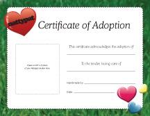 Adoption Certificate   Dolls & Stuffies   Pinterest
