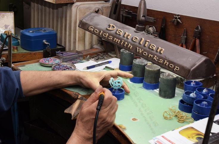 Diamond Wedding Ring, Diamond Band, Goldsmith Workshop, DANELIAN, Goldsmith Bench, Custom Jewelry Manufacture, sketch, photo, drawing, 3D wax model, Etsy.com, shop presentation, DanelianJewelry