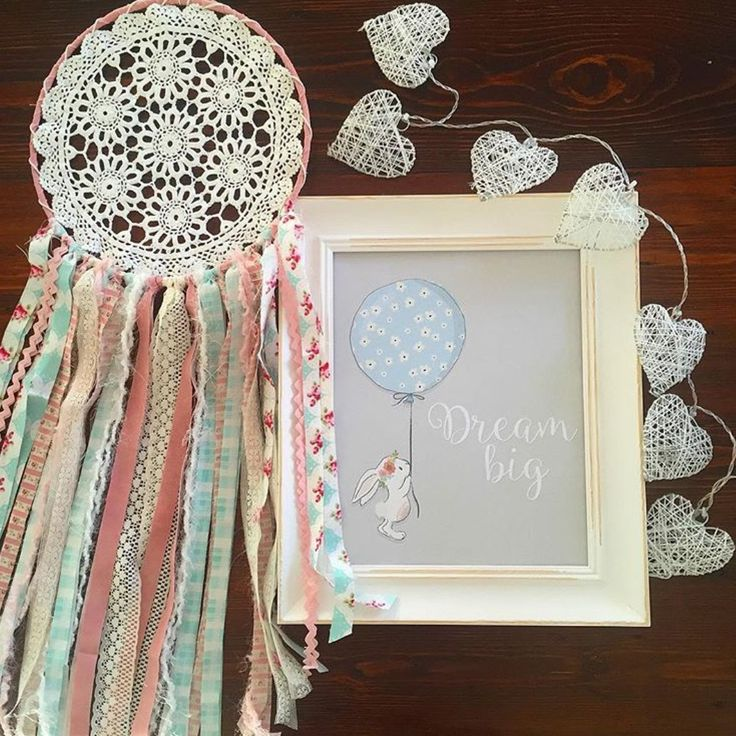 Pretty Boho Upcycled Vintage Dream Catcher in Pinks and Aqua by BluekessDesigns on Etsy