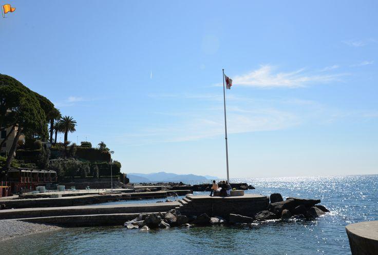 "Sunny day at a ""beach"" in #SantaMargheritaLigure, Italy."