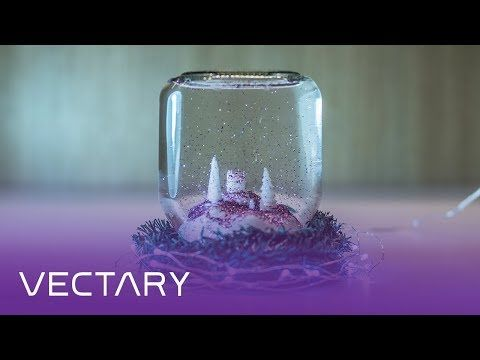 DIY snow globe in a Nutella jar | DIY Christmas hack with 3D printed low poly landscape - YouTube