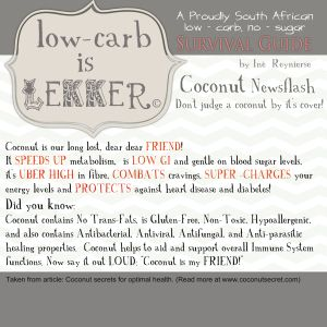 Low Carb is lekker 2 coconut tips