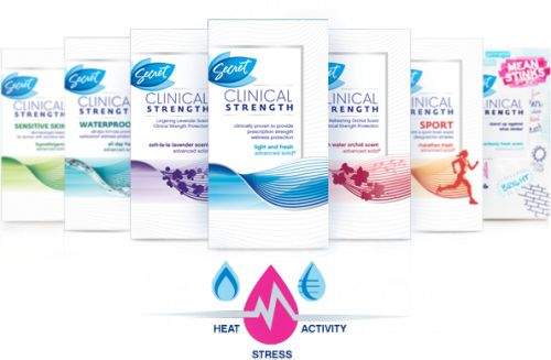 Did you know that stress sweat is different than normal normal sweat? The Secret Clinical Strength Stress Response deodorant protects you not only from normal sweat but from stress-induced sweat, as well. Crazypants! I'm excited to try this.