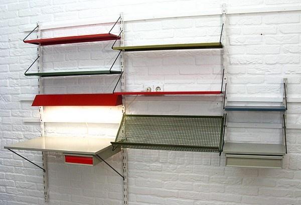 Pilastro complete wallsystem, Dutch industrial vintage design 1950's