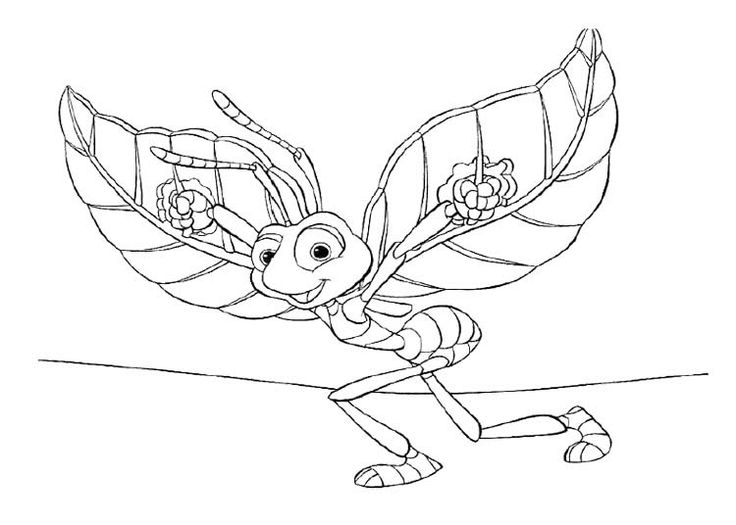 78+ images about Disney Bugs Life Coloring Page on ...