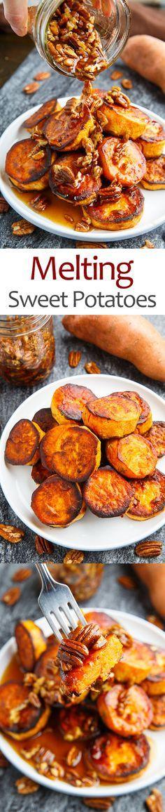 Sweet Potatoes - Maple Pecan Melting Sweet Potatoes