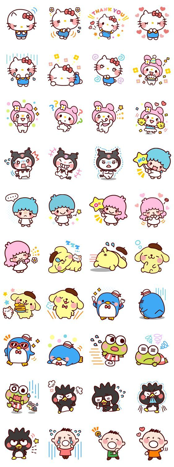Sanrio Sticker Sheet