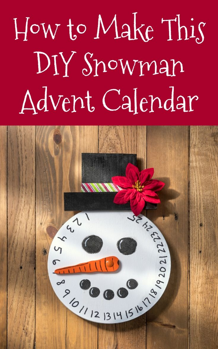 How to make a DIY snowman advent calendar from a clock face