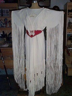 Native American Indian Style Deer Hide Wedding Dress Pictures