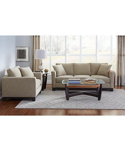 kenton fabric sofa parchment sectional sofas at ashley furniture sofa, created for macy's | ...