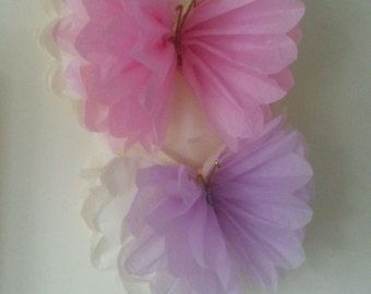 large single frayed hanging tissue paper by Ohsopretty37 on Etsy