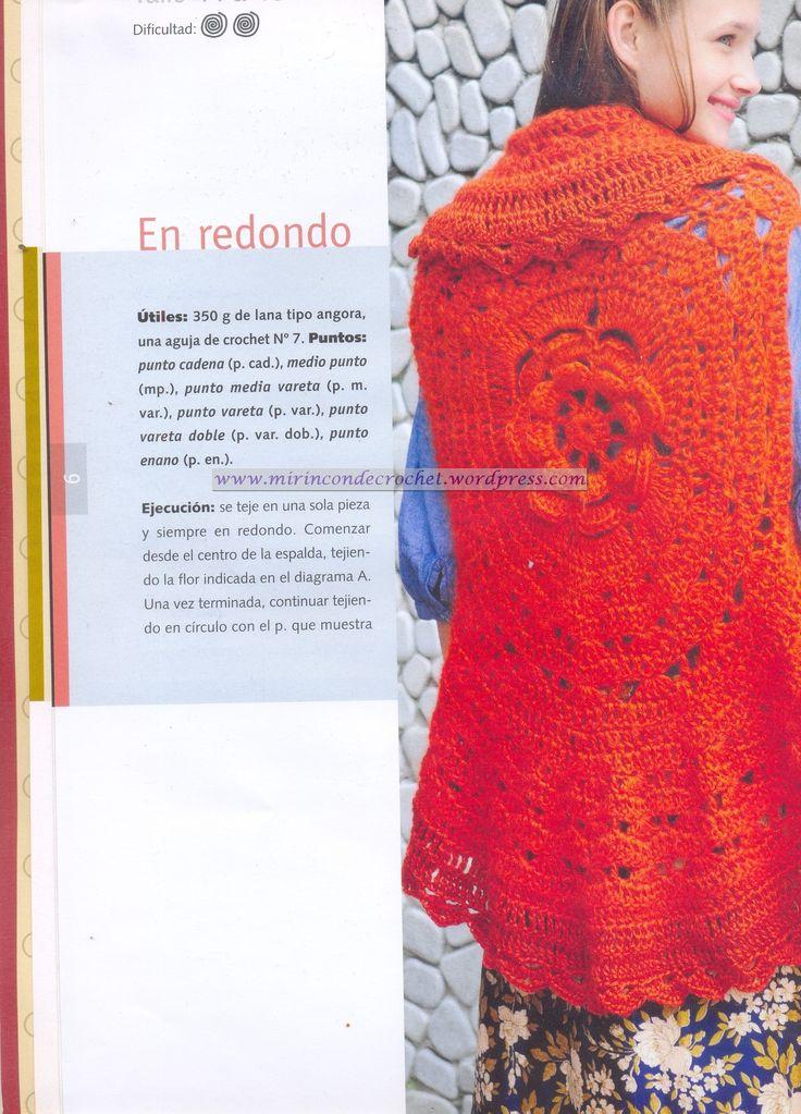 Circular…esta vez con una flor central | Mi Rincon de Crochet
