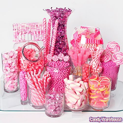 This site has a grand selection of bulk candy! Reasonable prices too! I like how the site allows you to only see colors you want or select certain themes. Makes candy shopping much easier. They also have a tutorial on how to build your candy buffet