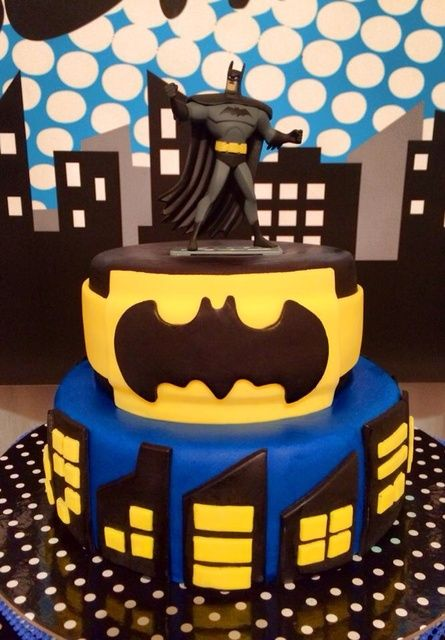 Batman Superhero Birthday Party cake! See more party ideas at CatchMyParty.com!