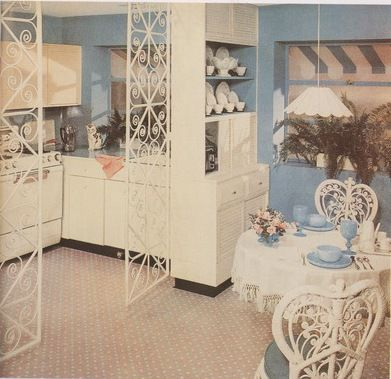 "Inspiring 1950s Interiors-Did someday say ""festive""?"