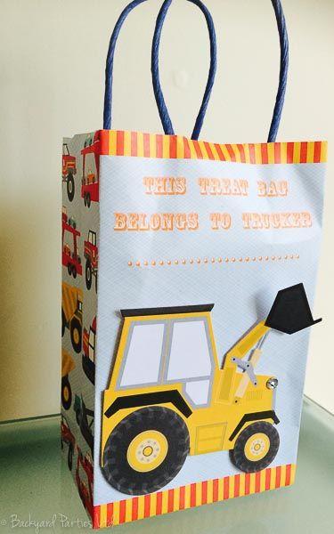 Construction Theme party bag. Meri Meri Big Rig