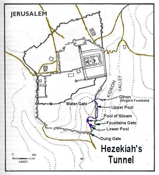 2 Kings 20v20 states that Hezekiah 'Made the Pool and the conduit and brought water into the city'  and in 2 Chronicles 32v30 that he closed...