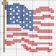 Schema punto croce Bandiera usa