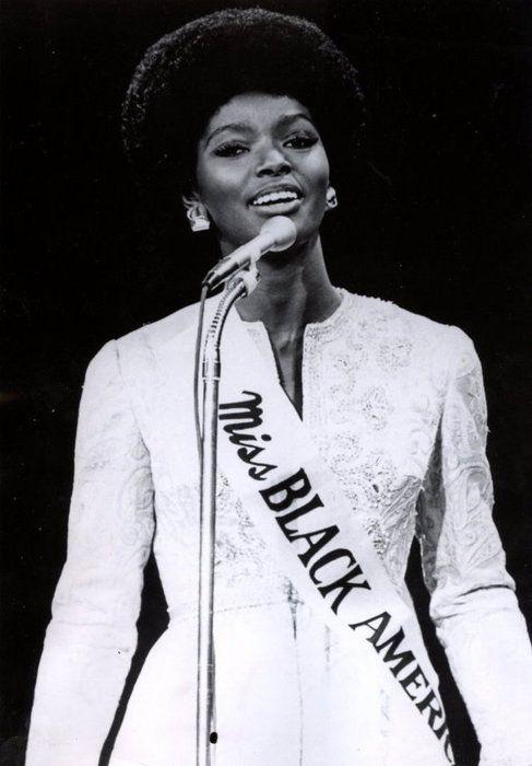 The first Miss Black America, Saundra Williams.