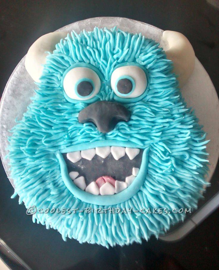 Coolest Sulley Cake... This website is the Pinterest of birthday cake ideas