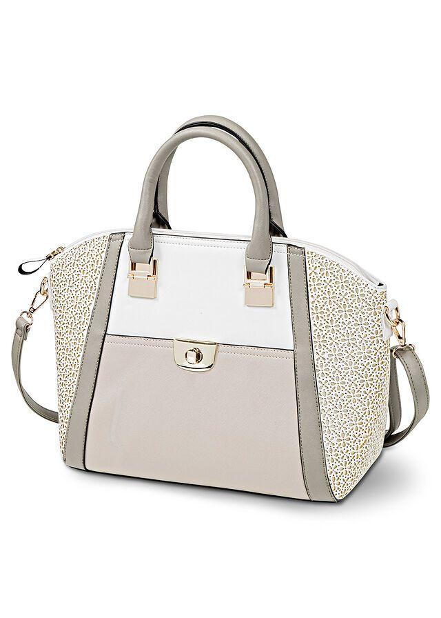 Torebka Z Wycinanym Laserowo Wzorem Kamienisto Kremowo Bialy 149 99 Zl Bonprix Top Handle Bag Kate Spade Top Handle Bag Bags