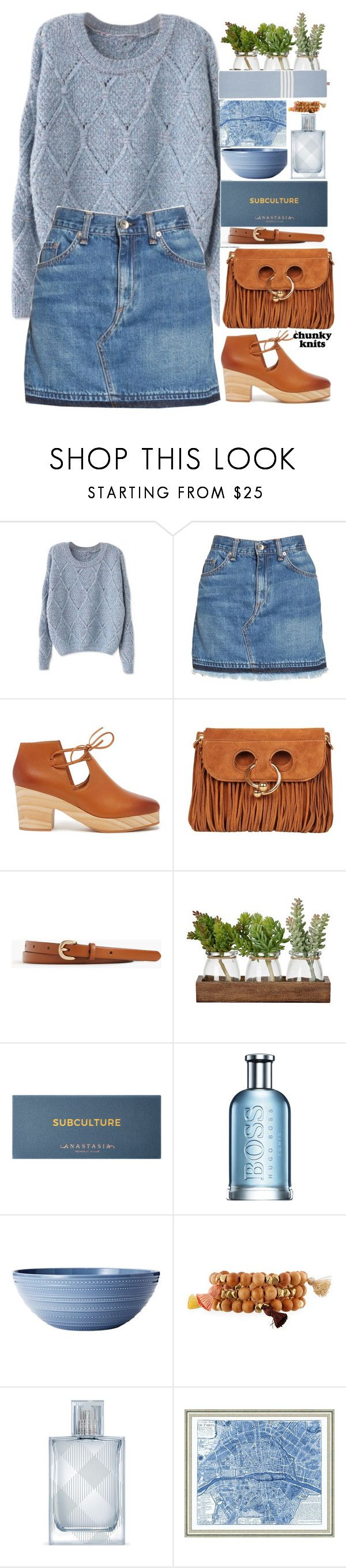 """1701"" by mykatty091 ❤ liked on Polyvore featuring rag & bone/JEAN, Kelsi Dagger Brooklyn, J.W. Anderson, J.Crew, Anastasia Beverly Hills, HUGO, Hipchik, Burberry, Vintage Print Gallery and Thom Browne"