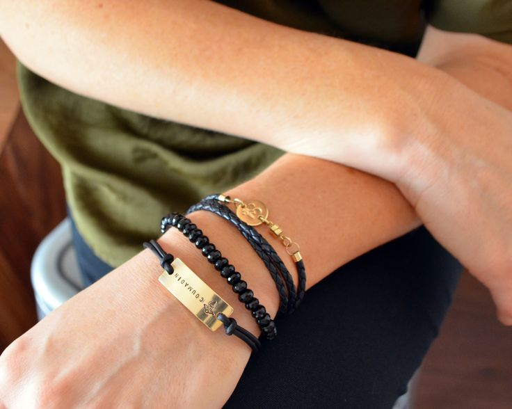 Gorgeous way to wear your medical information. Simple design makes for a great accessory, gold adds a little glam. **This bracelet is part of the casual line which is not intended for exposure to wate
