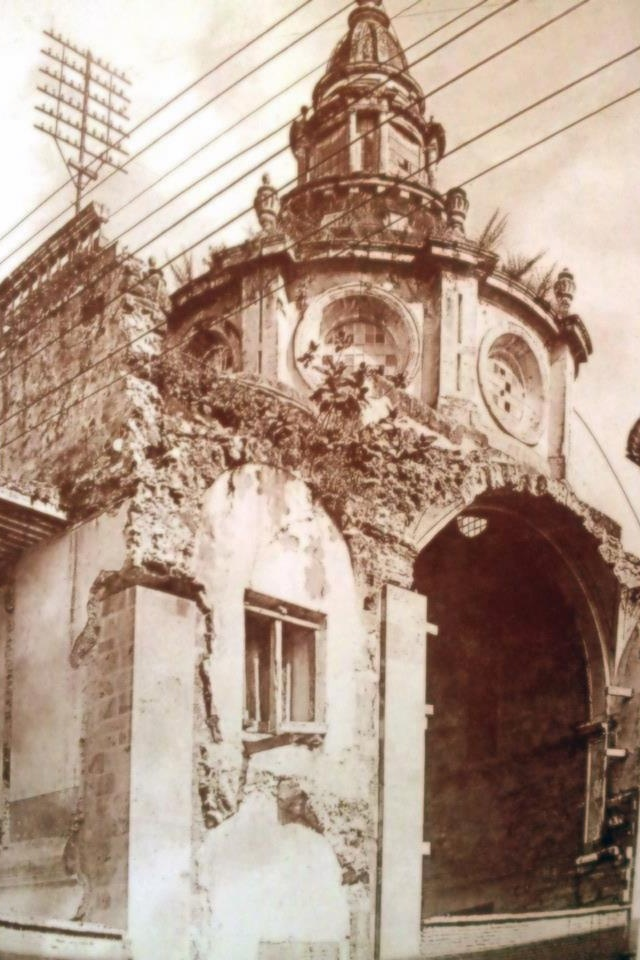 """Templo de la compañía de Jesús después de las obras de la calle Galeana, hoy """"Biblioteca Iberoamericana Octavio Paz"""""""
