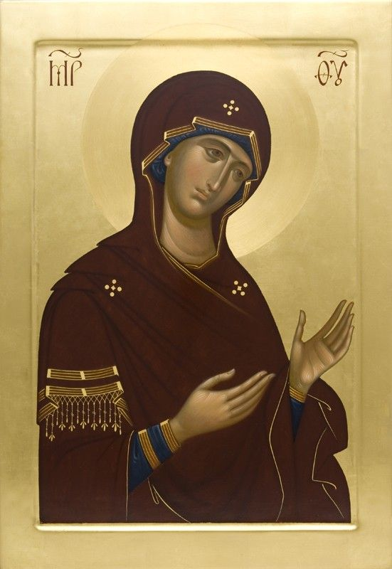 Deesis Icon of the Mother of God - - Hand-Painted Icon from the Workshop of St. Elisabeth Convent - To learn more about our Icon Painting Studio: http://catalog.obitel-minsk.com/icon-painting #CatalogOfGoodDeeds #Orthodox #Icons - #OrthodoxIcons #Orthodoxy, #Theotokos, #VirginMary, #Miracle, #Blessed #Faith #Handpainted