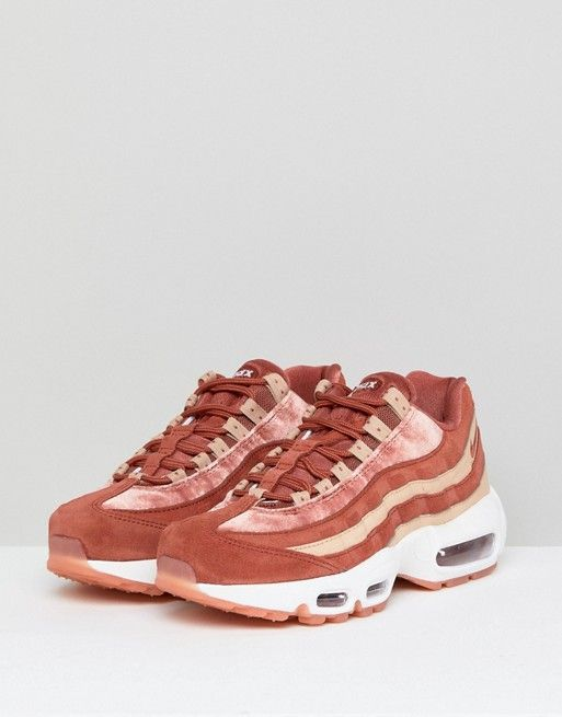 Nike Air Max 95 Velvet Trainers In Dusty Peach  a548f9bc0