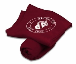 Alpha Phi Sweatshirt Blankets SALE $29.95. - Greek Clothing and Merchandise - Greek Gear®