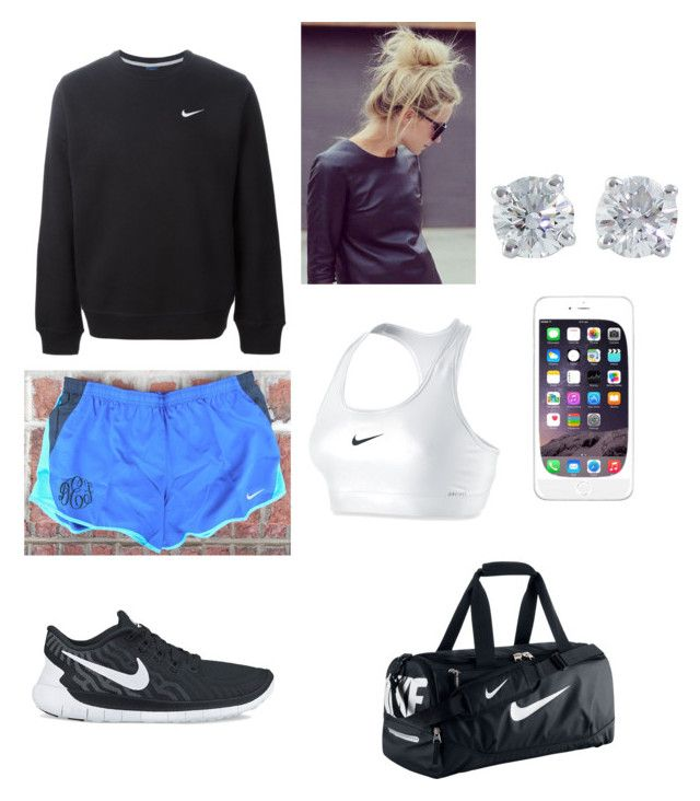 """""""Softball practice"""" by electra-pickles ❤ liked on Polyvore featuring NIKE and Tiffany & Co."""