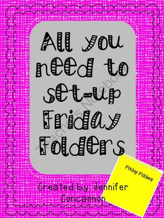 Friday Folder Set up from EndeavorsinEducation on TeachersNotebook.com -  (17 pages)  - Set up take home folders for graded assignments to ensure parents are seeing them
