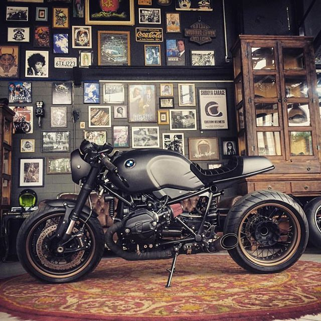 already a looker this bmw r ninet has been given some very tasteful touches by shibuyagarage. Black Bedroom Furniture Sets. Home Design Ideas