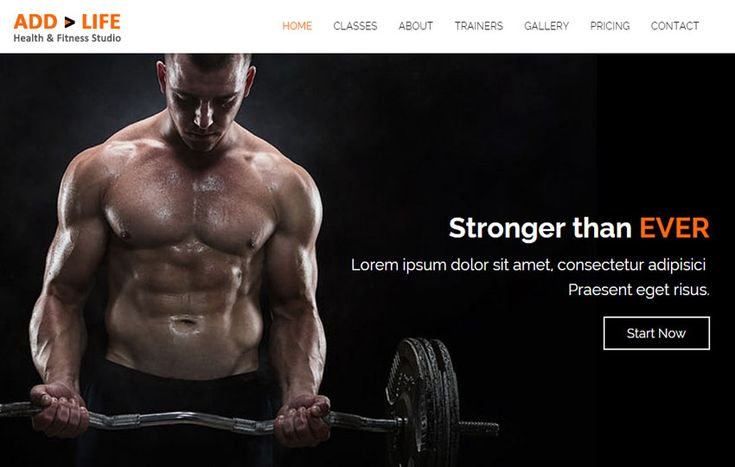 Add Life Health Fitness Free Bootstrap HTML5 Template Health - fitness templates free